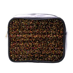 Pixel Pattern Colorful And Glowing Pixelated Mini Toiletries Bags