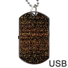 Pixel Pattern Colorful And Glowing Pixelated Dog Tag Usb Flash (one Side)