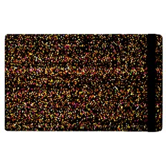 Pixel Pattern Colorful And Glowing Pixelated Apple iPad 3/4 Flip Case