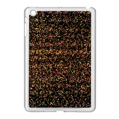 Pixel Pattern Colorful And Glowing Pixelated Apple iPad Mini Case (White)