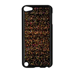 Pixel Pattern Colorful And Glowing Pixelated Apple iPod Touch 5 Case (Black)