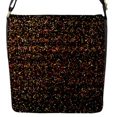 Pixel Pattern Colorful And Glowing Pixelated Flap Messenger Bag (S)