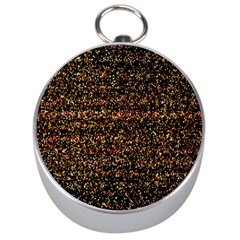 Pixel Pattern Colorful And Glowing Pixelated Silver Compasses