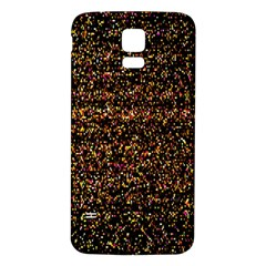 Pixel Pattern Colorful And Glowing Pixelated Samsung Galaxy S5 Back Case (White)
