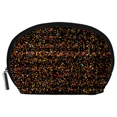 Pixel Pattern Colorful And Glowing Pixelated Accessory Pouches (large)