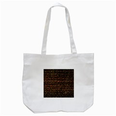 Pixel Pattern Colorful And Glowing Pixelated Tote Bag (White)