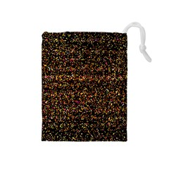 Pixel Pattern Colorful And Glowing Pixelated Drawstring Pouches (Medium)