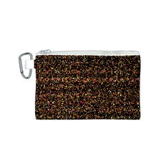 Pixel Pattern Colorful And Glowing Pixelated Canvas Cosmetic Bag (S)