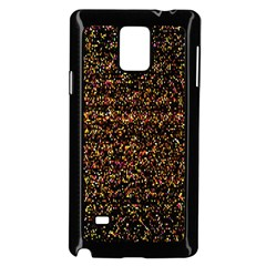 Pixel Pattern Colorful And Glowing Pixelated Samsung Galaxy Note 4 Case (Black)