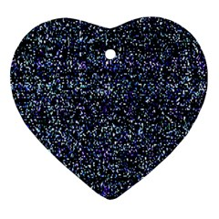 Pixel Colorful And Glowing Pixelated Pattern Ornament (Heart)