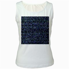 Pixel Colorful And Glowing Pixelated Pattern Women s White Tank Top
