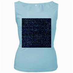 Pixel Colorful And Glowing Pixelated Pattern Women s Baby Blue Tank Top