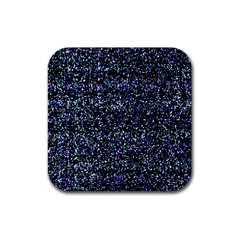 Pixel Colorful And Glowing Pixelated Pattern Rubber Coaster (Square)