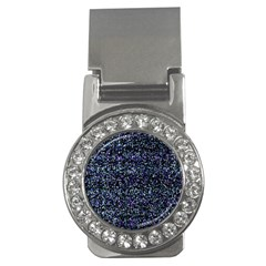 Pixel Colorful And Glowing Pixelated Pattern Money Clips (CZ)
