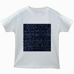 Pixel Colorful And Glowing Pixelated Pattern Kids White T-Shirts