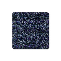 Pixel Colorful And Glowing Pixelated Pattern Square Magnet