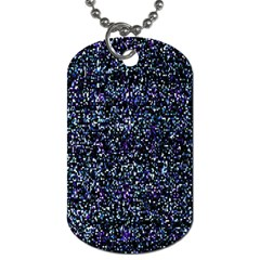 Pixel Colorful And Glowing Pixelated Pattern Dog Tag (one Side)