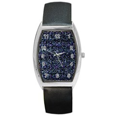 Pixel Colorful And Glowing Pixelated Pattern Barrel Style Metal Watch