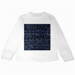 Pixel Colorful And Glowing Pixelated Pattern Kids Long Sleeve T-Shirts