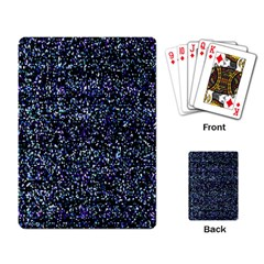 Pixel Colorful And Glowing Pixelated Pattern Playing Card