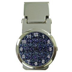 Pixel Colorful And Glowing Pixelated Pattern Money Clip Watches