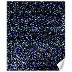 Pixel Colorful And Glowing Pixelated Pattern Canvas 8  X 10