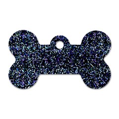 Pixel Colorful And Glowing Pixelated Pattern Dog Tag Bone (one Side)