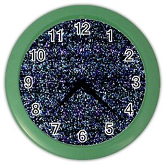 Pixel Colorful And Glowing Pixelated Pattern Color Wall Clocks