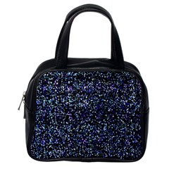 Pixel Colorful And Glowing Pixelated Pattern Classic Handbags (One Side)