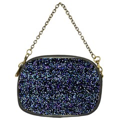 Pixel Colorful And Glowing Pixelated Pattern Chain Purses (one Side)