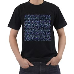 Pixel Colorful And Glowing Pixelated Pattern Men s T-Shirt (Black)
