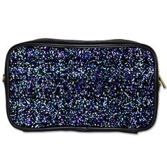Pixel Colorful And Glowing Pixelated Pattern Toiletries Bags