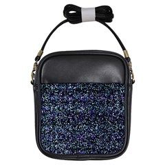 Pixel Colorful And Glowing Pixelated Pattern Girls Sling Bags