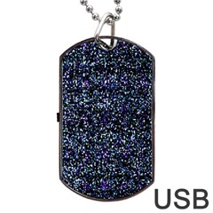 Pixel Colorful And Glowing Pixelated Pattern Dog Tag USB Flash (One Side)
