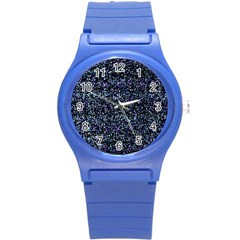 Pixel Colorful And Glowing Pixelated Pattern Round Plastic Sport Watch (s)