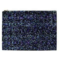 Pixel Colorful And Glowing Pixelated Pattern Cosmetic Bag (XXL)