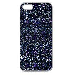 Pixel Colorful And Glowing Pixelated Pattern Apple Seamless iPhone 5 Case (Clear)