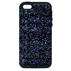 Pixel Colorful And Glowing Pixelated Pattern Apple iPhone 5 Hardshell Case (PC+Silicone)