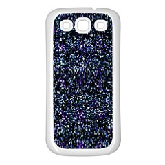 Pixel Colorful And Glowing Pixelated Pattern Samsung Galaxy S3 Back Case (White)
