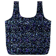 Pixel Colorful And Glowing Pixelated Pattern Full Print Recycle Bags (L)
