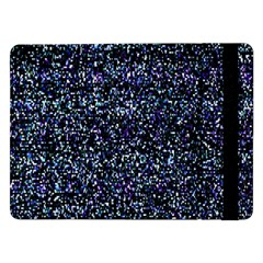 Pixel Colorful And Glowing Pixelated Pattern Samsung Galaxy Tab Pro 12 2  Flip Case