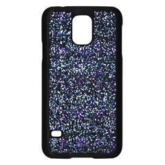 Pixel Colorful And Glowing Pixelated Pattern Samsung Galaxy S5 Case (Black)