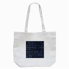 Pixel Colorful And Glowing Pixelated Pattern Tote Bag (White)
