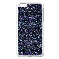 Pixel Colorful And Glowing Pixelated Pattern Apple iPhone 6 Plus/6S Plus Enamel White Case