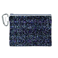 Pixel Colorful And Glowing Pixelated Pattern Canvas Cosmetic Bag (L)