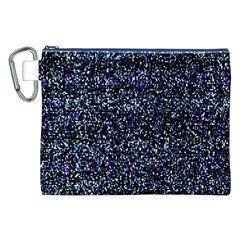 Pixel Colorful And Glowing Pixelated Pattern Canvas Cosmetic Bag (XXL)