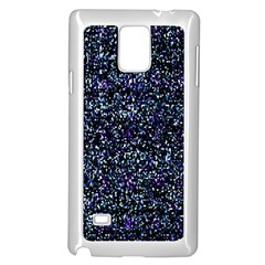 Pixel Colorful And Glowing Pixelated Pattern Samsung Galaxy Note 4 Case (White)