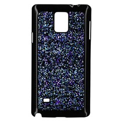 Pixel Colorful And Glowing Pixelated Pattern Samsung Galaxy Note 4 Case (Black)