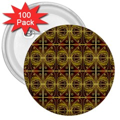 Seamless Symmetry Pattern 3  Buttons (100 pack)