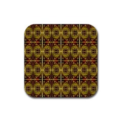 Seamless Symmetry Pattern Rubber Square Coaster (4 Pack)